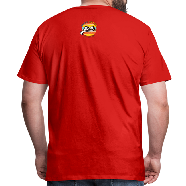 The Man Men's Premium T-Shirt w/Logo on Chest and Back Label - red