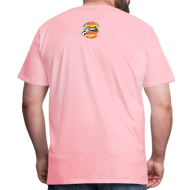 The Man Men's Premium T-Shirt w/Logo on Chest and Back Label - pink