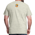 The Man Men's Premium T-Shirt w/Logo on Chest and Back Label - heather oatmeal