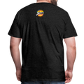 The Man Men's Premium T-Shirt w/Logo on Chest and Back Label - charcoal gray