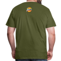 The Man Men's Premium T-Shirt w/Logo on Chest and Back Label - olive green