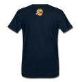 The Man Men's Premium T-Shirt w/Logo on Chest and Back Label - deep navy