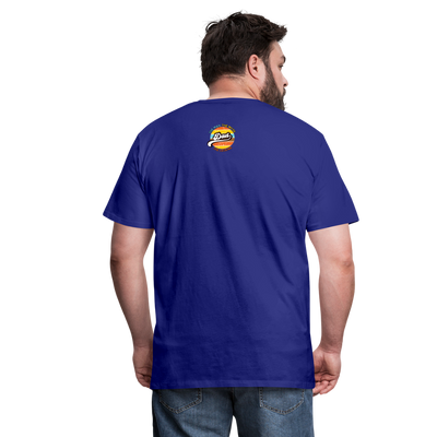 The Man Men's Premium T-Shirt w/Logo on Heart and Back Label - royal blue