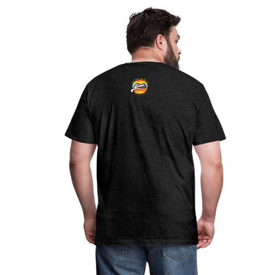The Man Men's Premium T-Shirt w/Logo on Heart and Back Label - charcoal gray