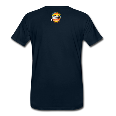 The Man Men's Premium T-Shirt w/Logo on Heart and Back Label - deep navy