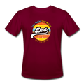The Man Men's Moisture Wicking Performance T-Shirt w/Logo on Chest - burgundy