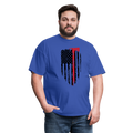 FF Flag w/Hatchet Unisex Short Sleeve Jersey Tee W/Logo on Chest - royal blue