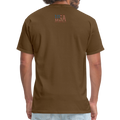 USA Love It Unisex Short Sleeve Fruit of the Loom w/Logo on Chest and Back Label - brown