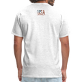 USA Love It Unisex Short Sleeve Fruit of the Loom w/Logo on Chest and Back Label - light heather gray
