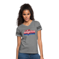 I Love America Women's Vintage Sport T-Shirt w/Logo on Chest - heather gray/charcoal