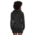 =I Love America Women's Hoodie Dress w/Logo on Chest and USA Shaped American Flag - heather black