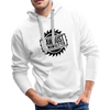 Sawdust Men's Premium Hoodie w/Logo on Chest - white