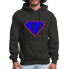 Superdad Men's Hoodie w/Logo on Chest - charcoal gray