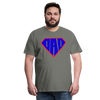 Superdad Men's Premium T-Shirt w/Logo on Chest - asphalt gray