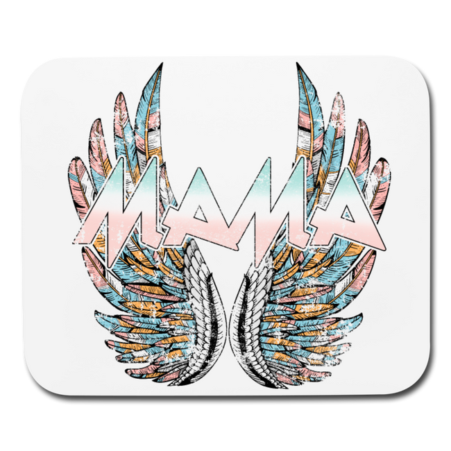 Mamas Wings Horizontal Mouse pad - white