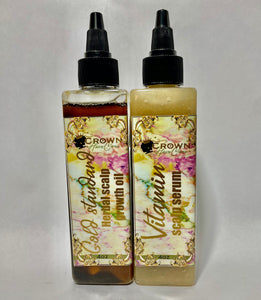 Scalp bundle- Vita scalp serum+ Gold standard herbal oil