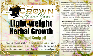 Light weight growth hair oil