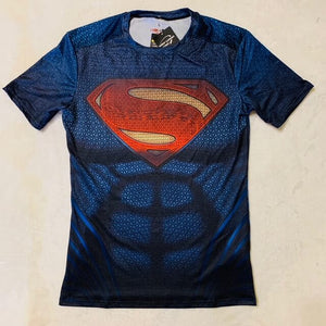 PLAYERA SUPERMAN 3 MANGA CORTA SUBLIMADA SUPERHEROES