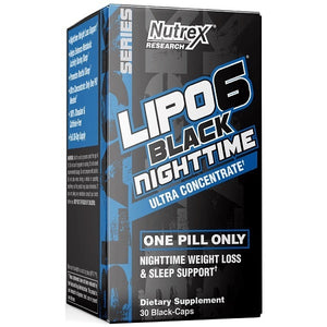LIPO 6 BLACK NIGHT TIME ULTRACONCENTRADO 30 CAPS NUTREX