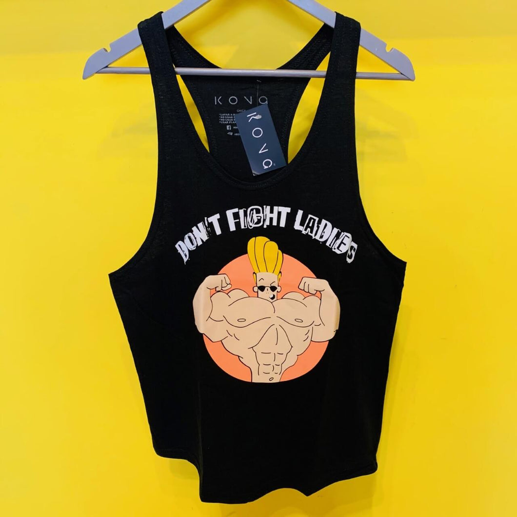 PLAYERA OLIMPICA JOHNNY BRAVO DONT FIGHT LADIES KONG CLOTHING