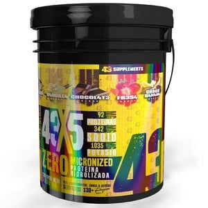 PROTEINA HIDROLIZADA ZERO 5 SABORES 43X5 13.2 LBS 43 SUPPLEMENTS
