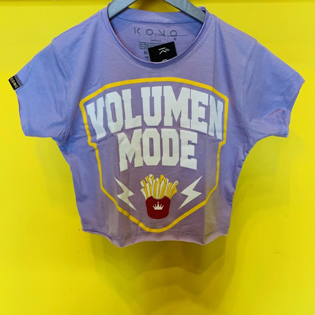 TOP VOLUMEN MODE MORADO UNITALLA KONG CLOTHING
