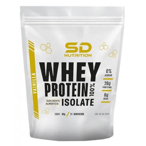 100% WHEY PROTEIN ISOLATE 1 KG SD NUTRITION
