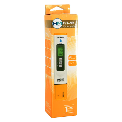 HM Digital pH Hydrotester PH-80 Digital pH Meter