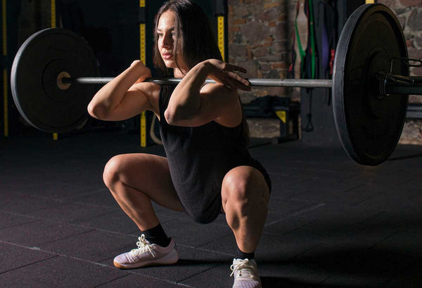 woman performing a front squat