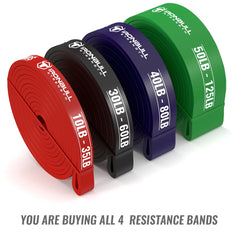 4-bands-kit pull up resistance bands rolled