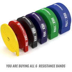 6-bands-kit pull up resistance bands rolled
