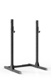 "75"" black coated steel squat stand iron bull strength"