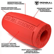 red alpha grips 2.5 inches features Iron Bull Strength