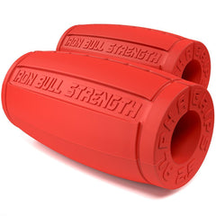 red alpha grips 2.5 inches Iron Bull Strength