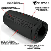 charcoal Alpha grips 2.0 inches Iron Bull Strength