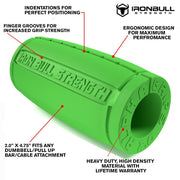 green Alpha grips 2.0 inches features Iron Bull Strength