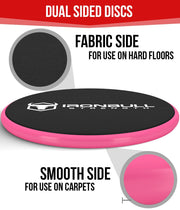 black-pink advanced gliding discs features