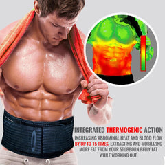 thermogenic waist trimmer features Iron Bull Strength