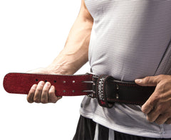adjustable weight lifting leather belt
