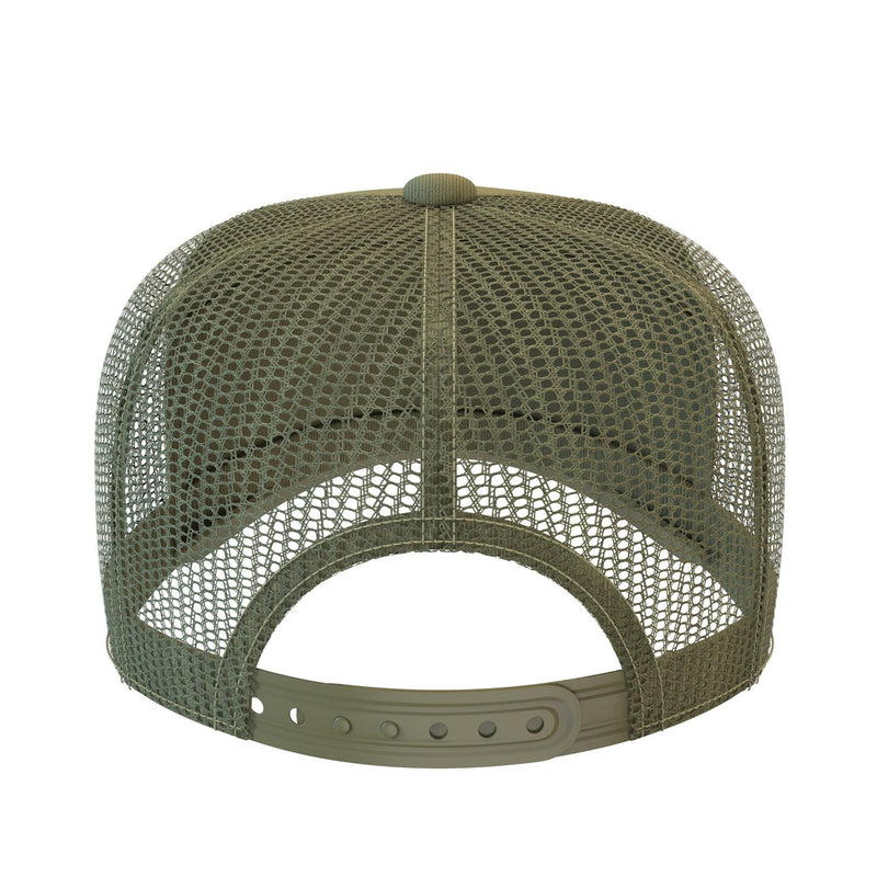 army-green comfortable trucker hat