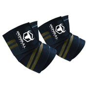 black-army-green iron bull strength elbow wraps for bench press