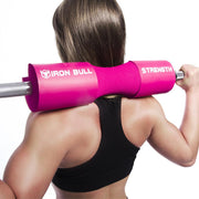 pink iron bull strength squat pad back