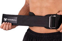 black how to wear weight lifting belt