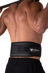 black back support 5 inches weight lifting nylon belt
