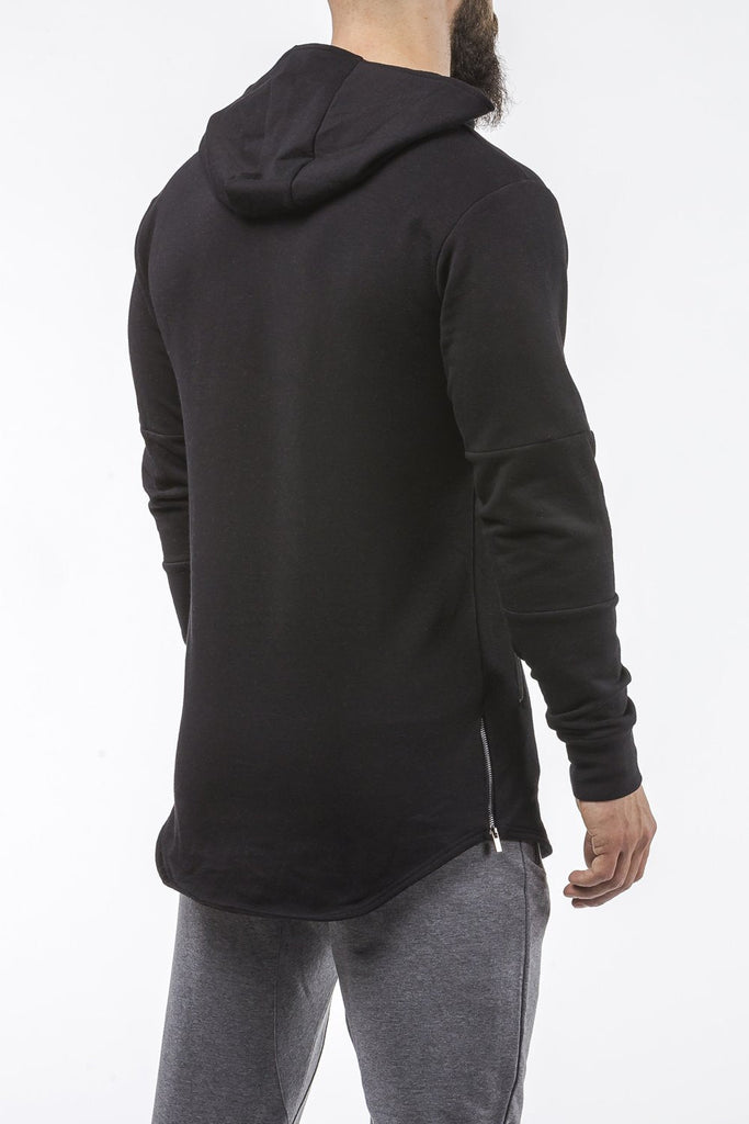 black tapered fit hoodie bodybuilder strongman