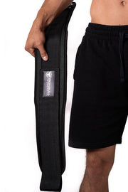 black weight lifting belt squat assist