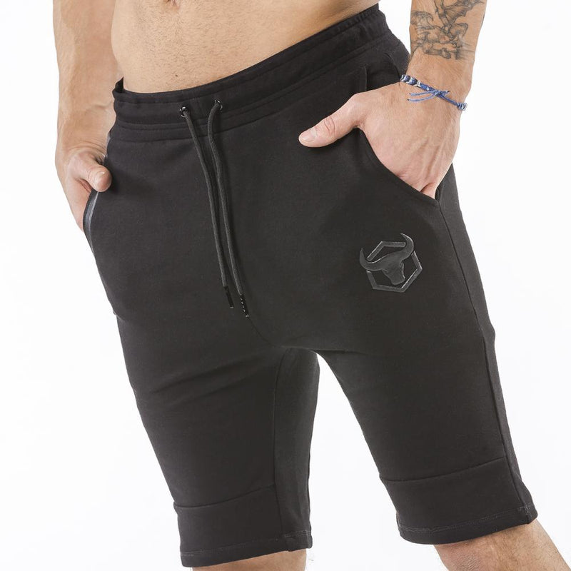 black nice looking shorts for bodybuilder and strongman