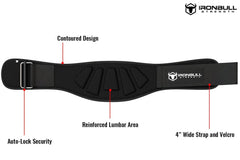 black iron bull strength 6 inches nylon weightlifting belt features