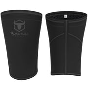 black iron bull strength 7mm knee sleeves front and back