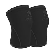 black iron bull strength 7mm knee sleeves side view
